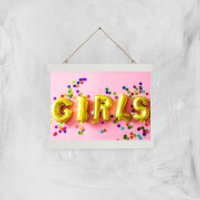 Party Girls Giclee Art Print - A4 - White Hanger