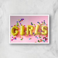 Party Girls Giclee Art Print - A2 - White Frame