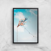 Fluttering In The Wind Giclee Art Print - A3 - Black Frame