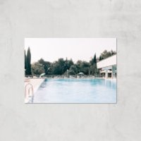 Pool Side Giclee Art Print - A4 - Print Only - Pool Gifts