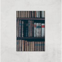 Old Books Giclee Art Print - A4 - Print Only