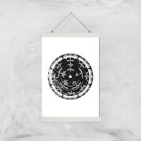 Weather Dial Giclee Art Print - A3 - White Hanger