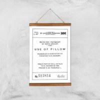 Use Of Pillow Ticket Giclee Art Print - A3 - Wooden Hanger - Pillow Gifts