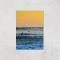 Sunset Surf Giclee Art Print - A2 - Print Only - Surf Gifts