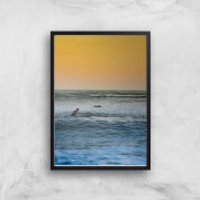 Sunset Surf Giclee Art Print - A2 - Black Frame - Surf Gifts