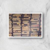 Videos Giclee Art Print - A4 - White Frame