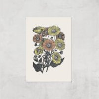 Yellow And Orange Flowers Giclee Art Print - A4 - Print Only - Flowers Gifts