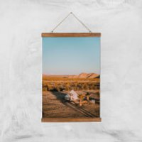 Camping Adventure Giclee Art Print - A3 - Wooden Hanger - Camping Gifts