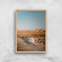 Camping Adventure Giclee Art Print - A3 - Wooden Frame - Camping Gifts