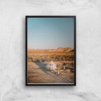 Camping Adventure Giclee Art Print - A2 - Black Frame - Camping Gifts
