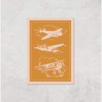 Aeroplane Diagram Giclee Art Print - A4 - Print Only - Aeroplane Gifts