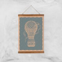 Hot Air Balloon Giclee Art Print - A3 - Wooden Hanger - Hot Air Balloon Gifts