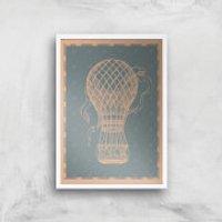 Hot Air Balloon Giclee Art Print - A3 - White Frame - Hot Air Balloon Gifts