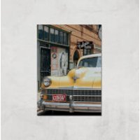New York Cab Giclee Art Print - A4 - Print Only - New York Gifts