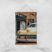 New York Cab Giclee Art Print - A3 - Wooden Hanger - New York Gifts