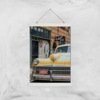 New York Cab Giclee Art Print - A3 - White Hanger - New York Gifts