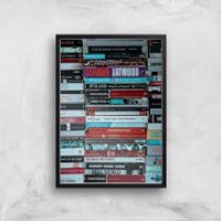 Casette Tapes Giclee Art Print - A3 - Black Frame