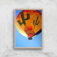Hot Air Balloon Giclee Art Print - A4 - Wooden Frame - Hot Air Balloon Gifts