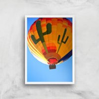 Hot Air Balloon Giclee Art Print - A4 - White Frame - Hot Air Balloon Gifts