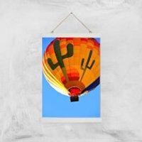 Hot Air Balloon Giclee Art Print - A3 - White Hanger - Hot Air Balloon Gifts