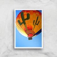 Hot Air Balloon Giclee Art Print - A2 - White Frame - Hot Air Balloon Gifts