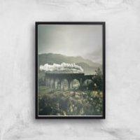 Steam Train Giclee Art Print - A4 - Black Frame - Train Gifts