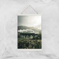 Steam Train Giclee Art Print - A3 - White Hanger - Train Gifts