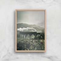 Steam Train Giclee Art Print - A3 - Wooden Frame - Train Gifts