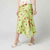 De La Vali Women's Caroline Midi Skirt - Green Rose - UK 8