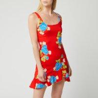 De La Vali Women's Christbel Mini Dress - Red Floral - UK 6
