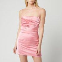 De La Vali Women's Frisco Silk Satin Dress - Pink - UK 12