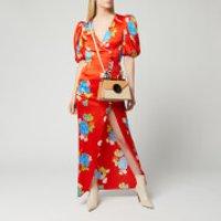 De La Vali Women's Ohio Long Dress - Red Floral - UK 6