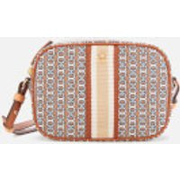 shop for Tory Burch Women's Gemini Link Canvas Mini Bag - Light Umber at Shopo
