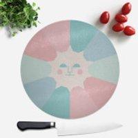 Sun Rays Round Chopping Board - Chopping Board Gifts