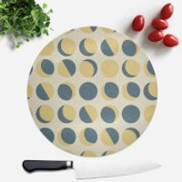 Moon Phase Pattern Round Chopping Board - Chopping Board Gifts