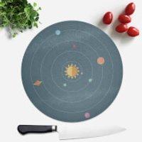 Solar System Round Chopping Board - Chopping Board Gifts