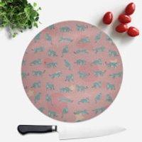 Cosmic Leopard Round Chopping Board - Chopping Board Gifts