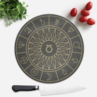 Planet Symbols Round Chopping Board - Chopping Board Gifts