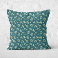 Horoscope Pattern Square Cushion - 50x50cm - Soft Touch