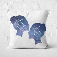 Cosmic Gemini Square Cushion - 50x50cm - Soft Touch - Cushion Gifts