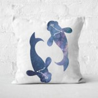 Cosmic Pisces Square Cushion - 50x50cm - Soft Touch - Cushion Gifts