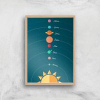 Planetary Alignment Giclee Art Print - A3 - Wooden Frame