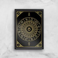 Decorative Horoscope Symbols Gicl?e Art Print - A2 - Black Frame