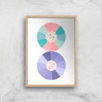 When The Sun And Moon Collide Giclee Art Print - A3 - Wooden Frame