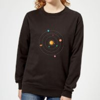 Solar System Women's Sweatshirt - Black - XL - Black