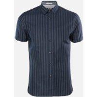 Ted Baker Men's Handeez Dotted Stripe Shirt - Navy - XL/5