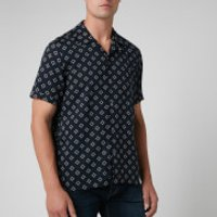 Ted Baker Men's Hedstan Revere Collar Shirt - Navy - L/4