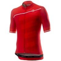 Castelli Trofeo Jersey - M - Red/Fiery Red