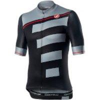 Castelli Trofeo Jersey - XL - Light Black/Vortex Gray