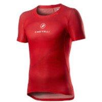 Castelli Pro Mesh Short Sleeve Baselayer - XS - Red